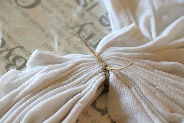 Fotopostup na batikované tričko - vzor výrez kruhu skladaním 6