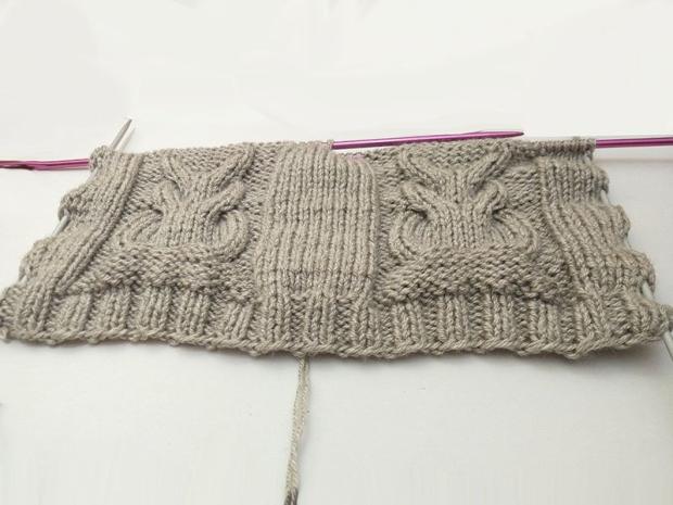 Detská pletená čiapka so sovou - návod 2