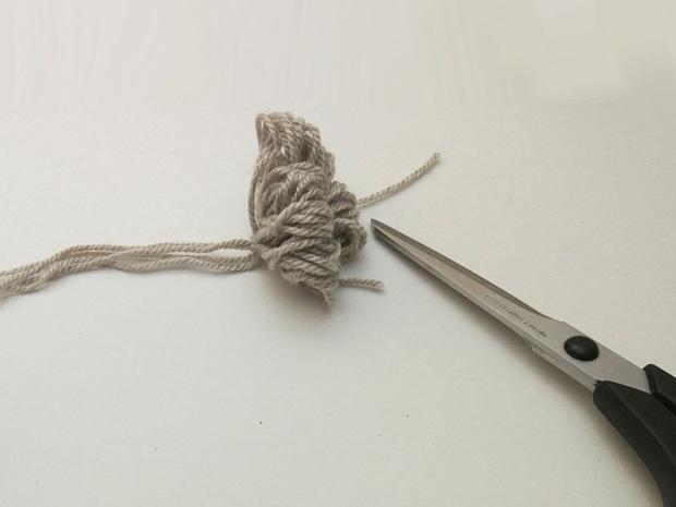 Detská pletená čiapka so sovou - návod 7