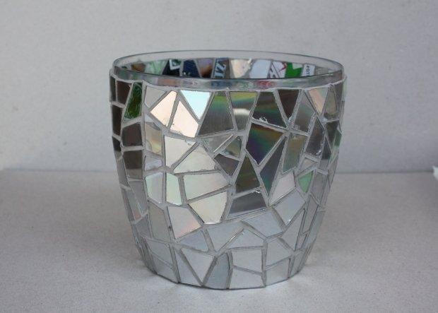 Postup na črepník s mozaikou z CD 11