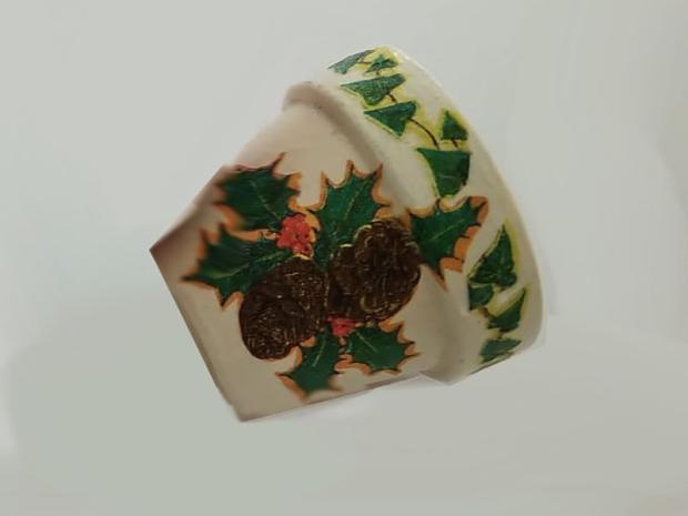 Zvončeky z kvetináčov zdobené servítkami 4