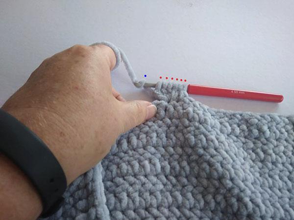 Postup na háčkovanú bublinkovú (nopkovú) deku 6
