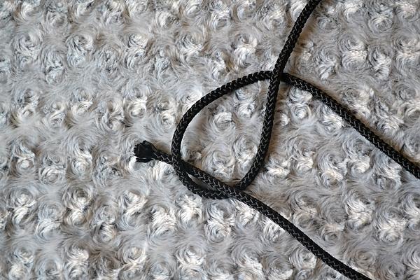 Náhrdelník z lana alebo šnúry III. čierny 3