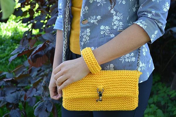 Pletená listová kabelka