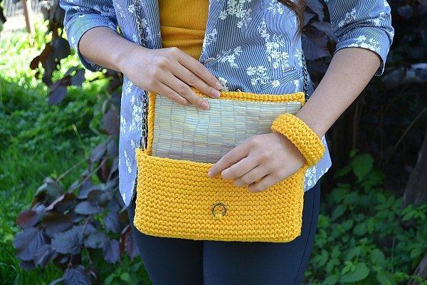 Pletená listová kabelka 9