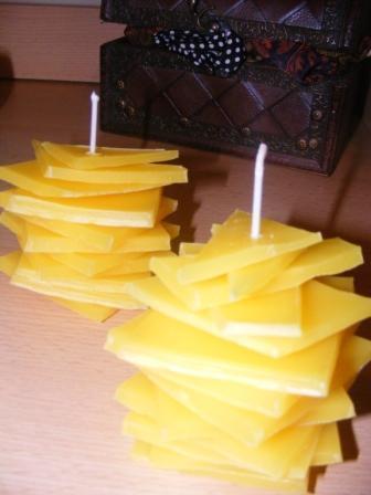 Návod na výrobu vrstvenej poschodovej sviečky