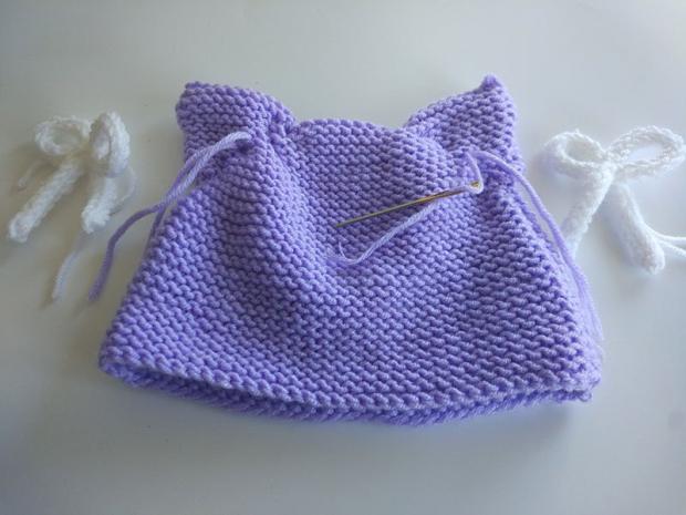 Návod na detskú čiapku z pleteného obdĺžnika 6