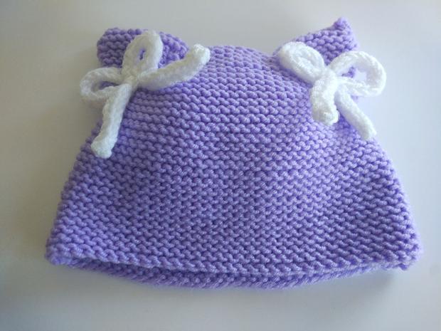 Návod na detskú čiapku z pleteného obdĺžnika 7