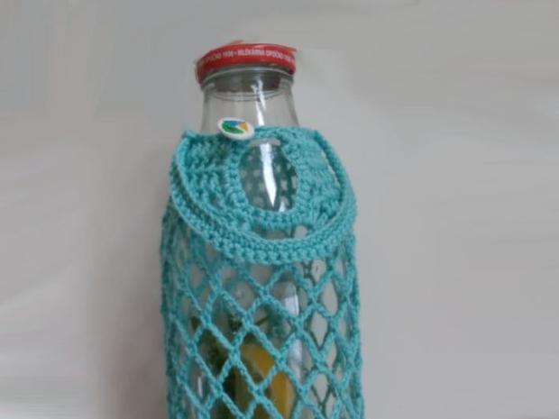 Ako obháčkovať fľašu 12