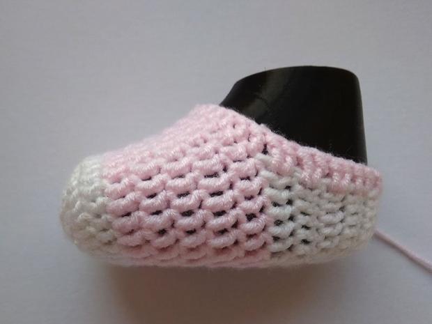 Háčkované ponožky pre bábätko  12