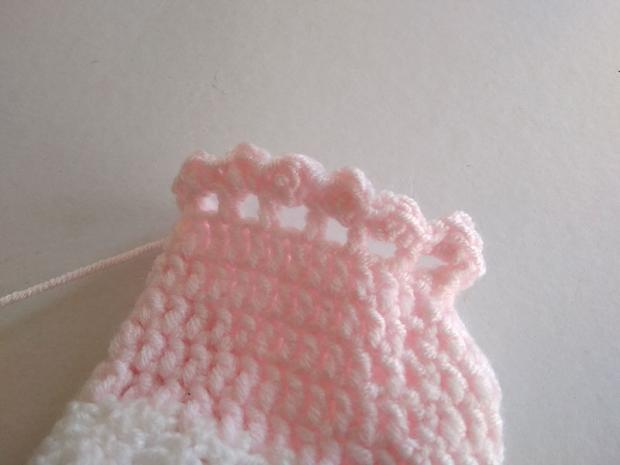 Háčkované ponožky pre bábätko  15