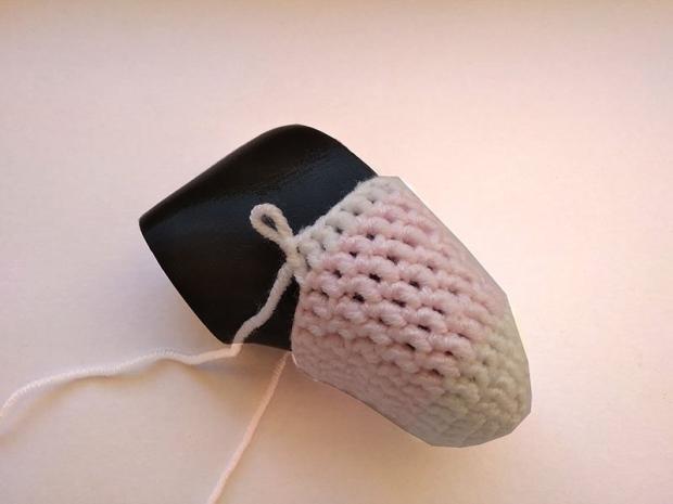 Háčkované ponožky pre bábätko  6