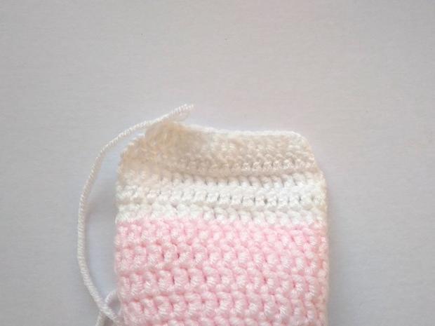 Háčkované ponožky pre bábätko  8