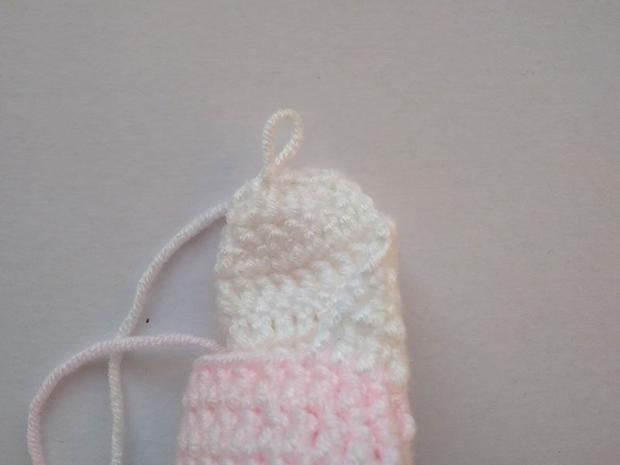 Háčkované ponožky pre bábätko  9