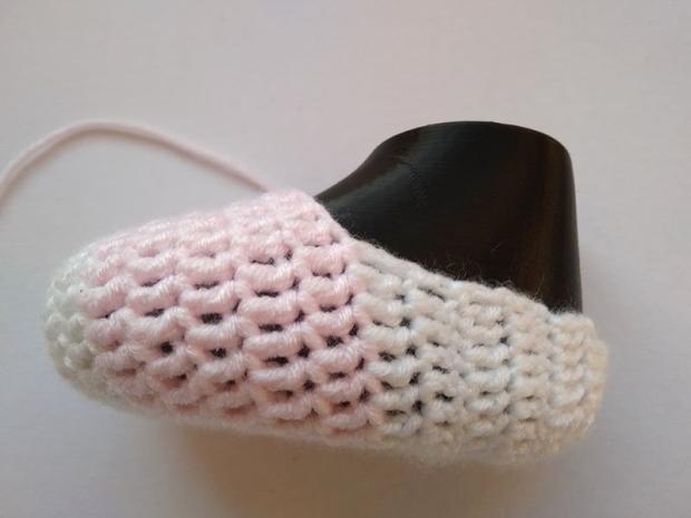 Háčkované ponožky pre bábätko  10