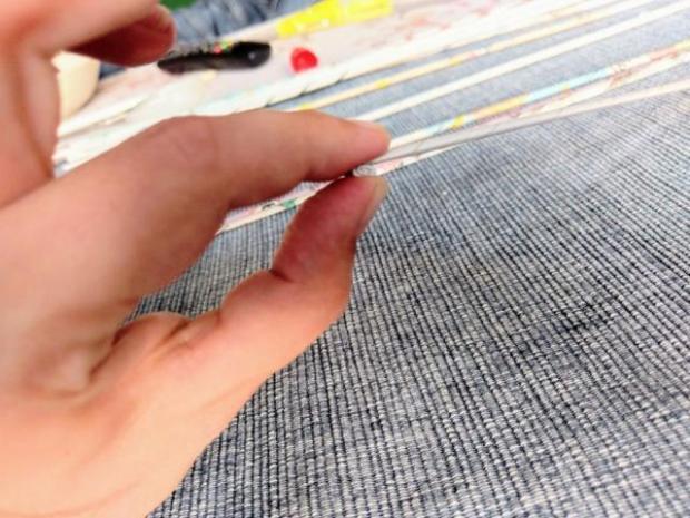 Vianočná ozdoba - pletenie z papiera pre úplných začiatočníkov 2