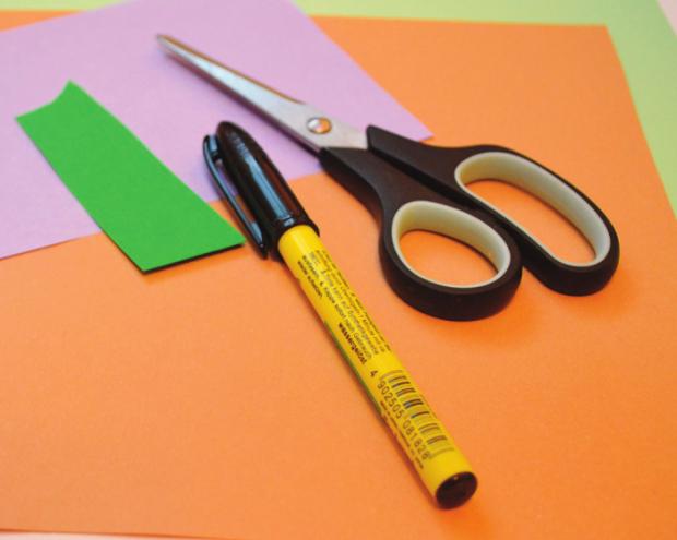 Tvorenie pre deti: Papierové ovocie 1
