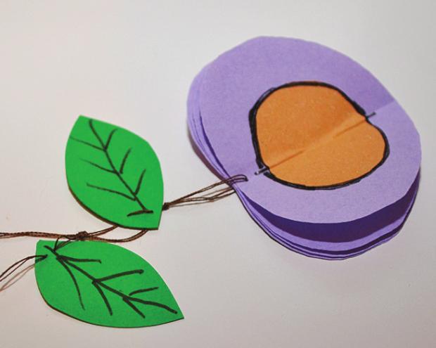 Tvorenie pre deti: Papierové ovocie 4