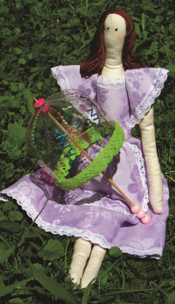 Dáždnik pre bábik z PET fľaše