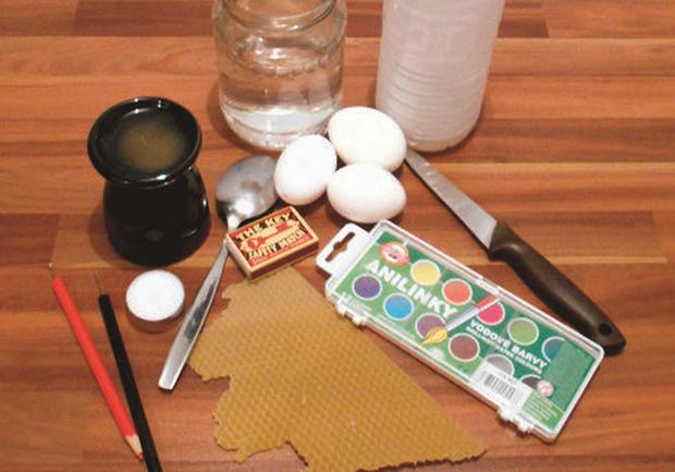 Batikované veľkonočné vajíčka  1