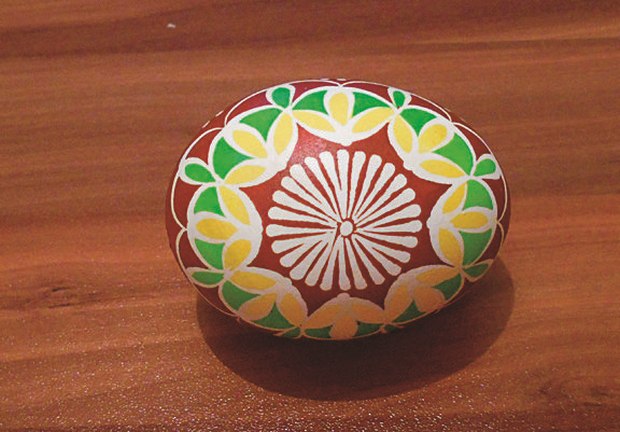 Batikované veľkonočné vajíčka  12