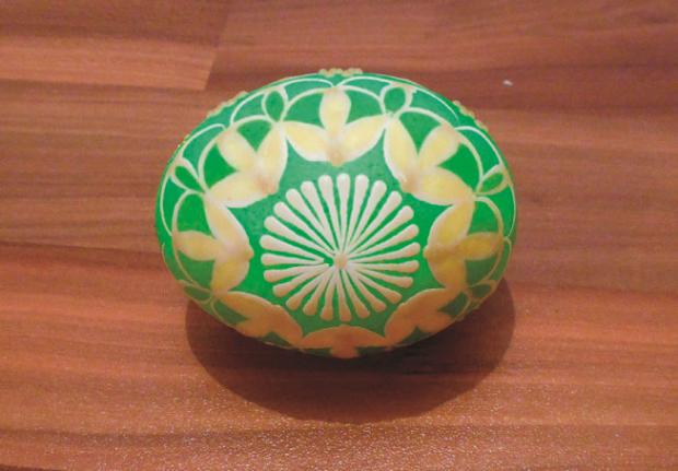 Batikované veľkonočné vajíčka  9