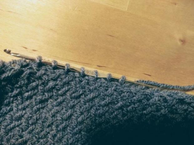 Pletená čiapka s patentom rybia kosť 4