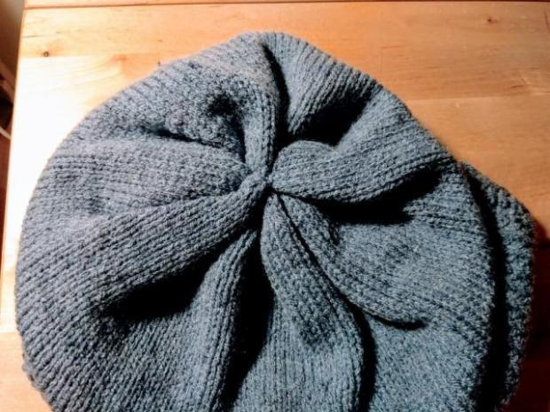 Pletená čiapka s patentom rybia kosť 10