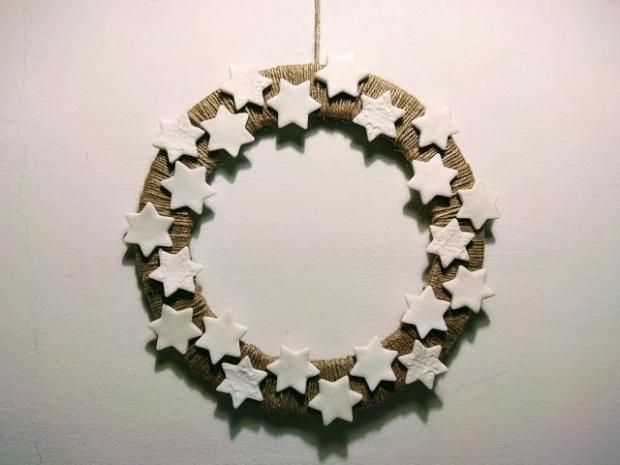 Postup na vianočné ozdoby na stromček zo studeného porcelánu 12