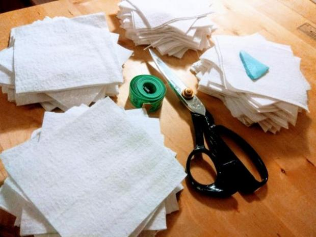 Textilné kozmetické tampóny na odličovanie 1