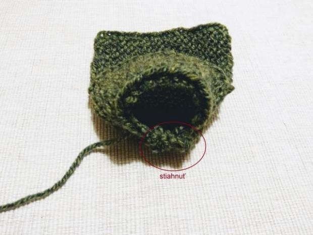 Najjednoduchšie pletené papučky pre bábätko 4