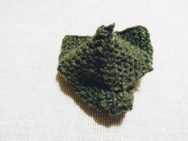 Najjednoduchšie pletené papučky pre bábätko 5