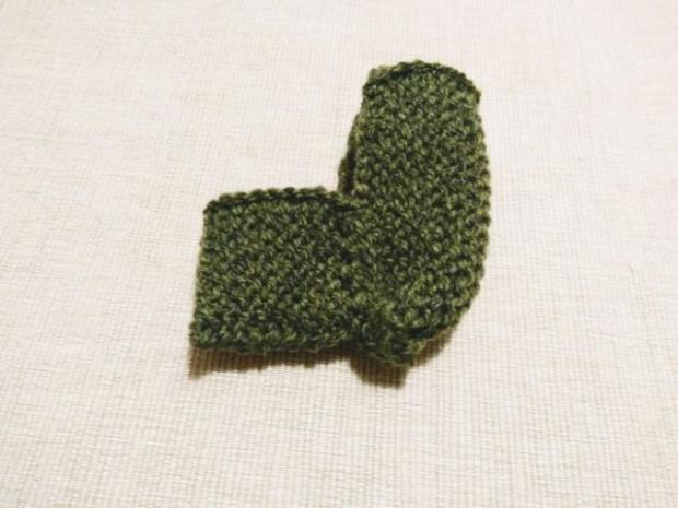 Najjednoduchšie pletené papučky pre bábätko 6