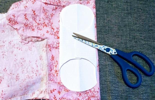 Postup na látkové menštruačné vložky 3