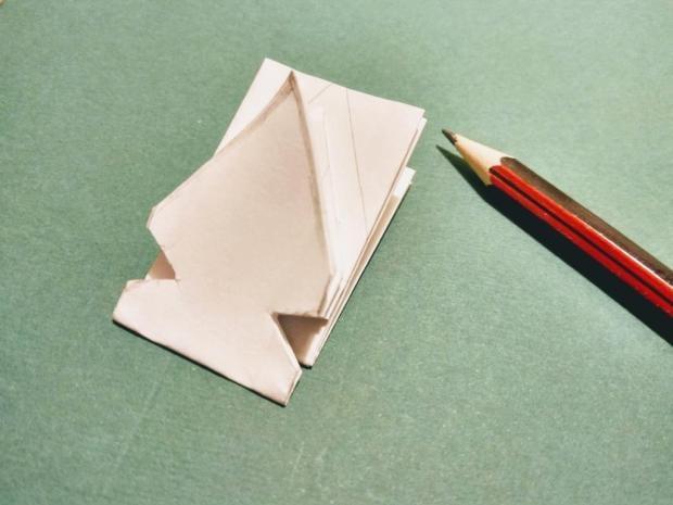 Papierová vianočná hviezda zo starej knihy 10