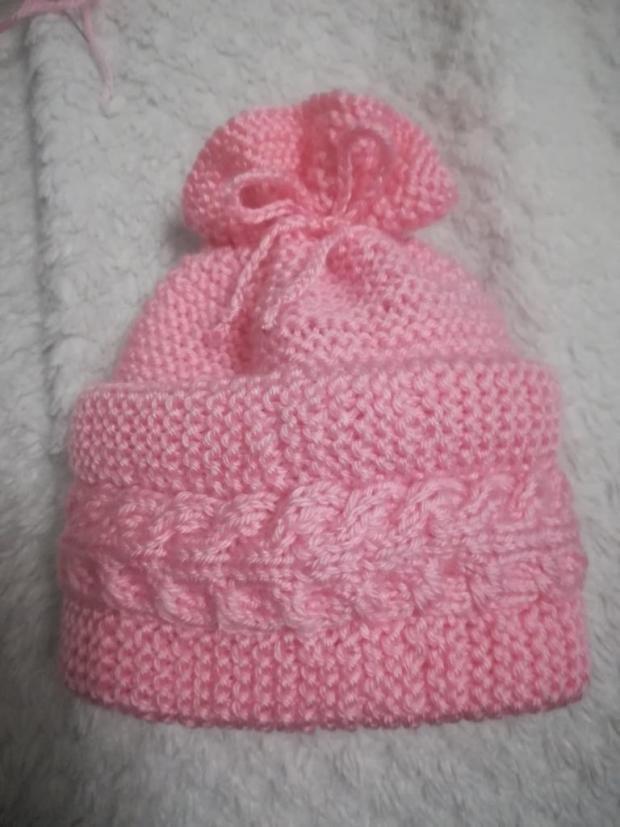 Čiapočka  - návod na pletenie 1