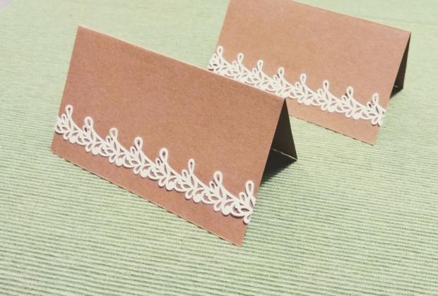 Použite korok na svadobnom stole + šablóna na svadobné menovky 5
