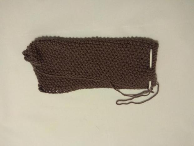 Návod na pletené papuče - zošité z jedného obdĺžnika. Veľmi jednoduché 4