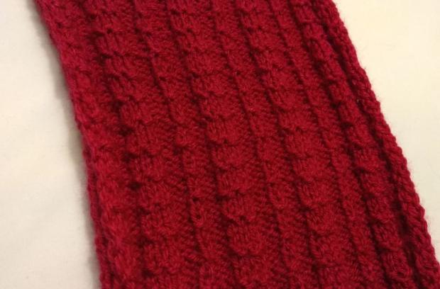 Pletený pásikavý vzor - návod 1
