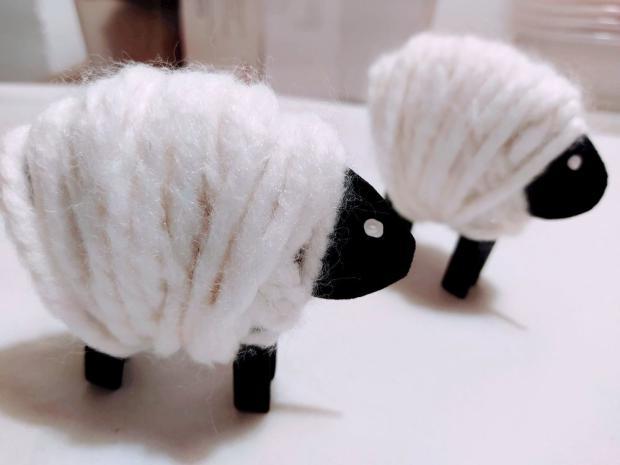 Ovečka - jarná dekorácia pre deti 5