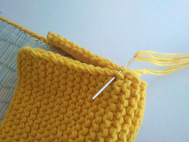 Pletená listová kabelka 8