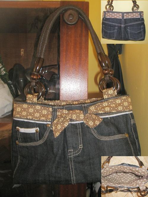 Kabelka zo starých džínsov