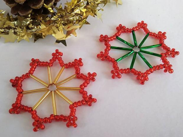 Ako vyrobiť korálkové hviezdičky II 1