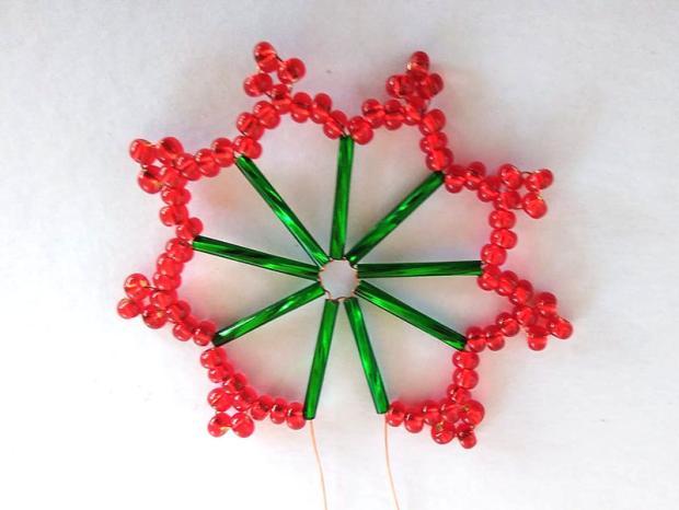 Ako vyrobiť korálkové hviezdičky II 9