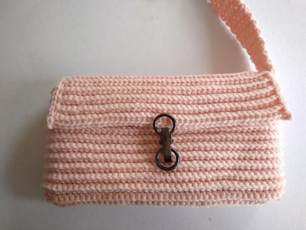 Háčkovaná listová kabelka 7