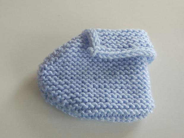 Pletené papučky pre bábätko 9
