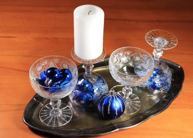 Štyri jednoduché a rýchle adventné svietniky v pohároch 2