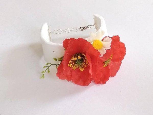 Fotopostup na kvetinkový náramok