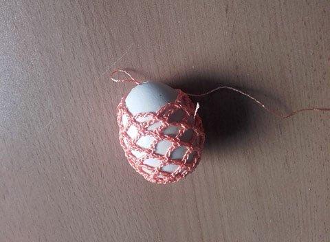 Ako obháčkovať vajíčko, vzor č.2 2
