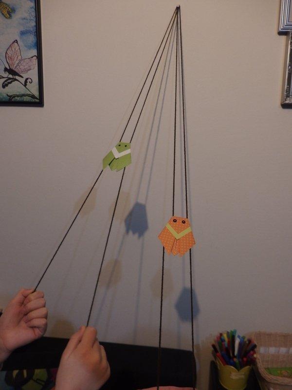 Pohyblivý papierový šváb - návod na hračku 12